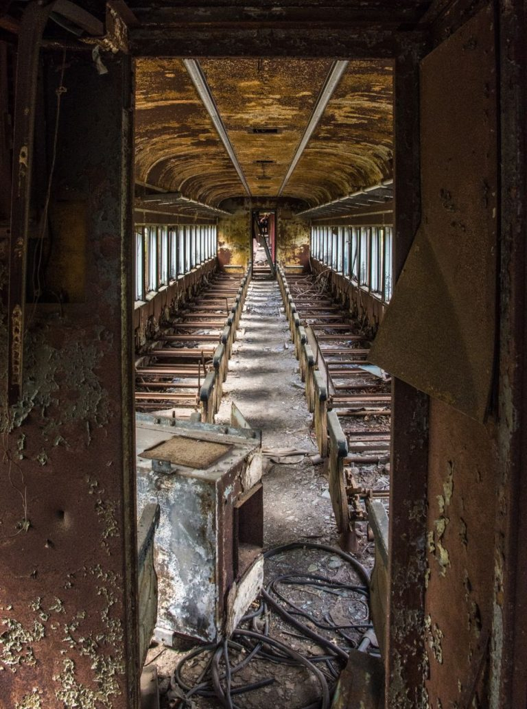 Abandoned Railcar Interior in New Hope