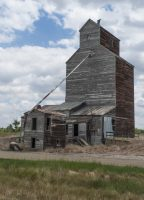 Abandoned Granary - Montana by Marcia Weikert
